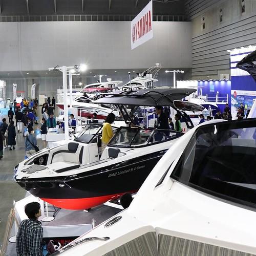 船の上から会場を撮影。 #ボートショー #ジャパンインターナショナルボートショー2017 #パシフィコ横浜 #ヤマハマリン