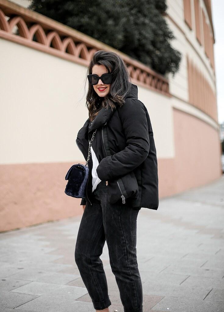 Zara Coat Black Myblueberrynightsblog Abrigo Plumas Puffer roedBWCx