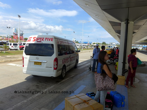 Super Five Shuttle Van when they dropped us off at Laguindingan Airport