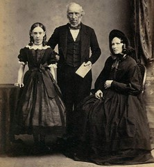 Family in Mourning, English Albumen Carte de Visite, Circa 1862, Detail