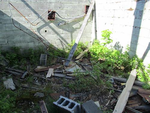 Wreckage inside the transmitter shack