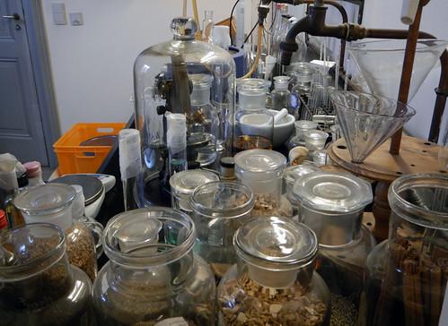 the Gin Museum chemistry in Hasselt, Belgium