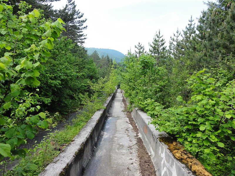 Abandoned bobsleigh track from 1984 Winter Olympics - Sarajevo, Bosnia & Herzegovina