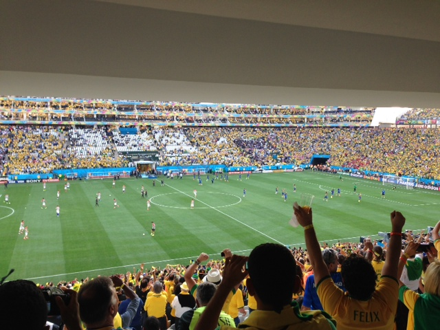 World cup stadium filled with fans