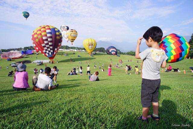 Watching Hot Air Balloon Rising