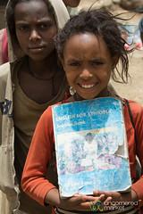 Ethiopian Girl Studying English - Debark Market, Ethiopia