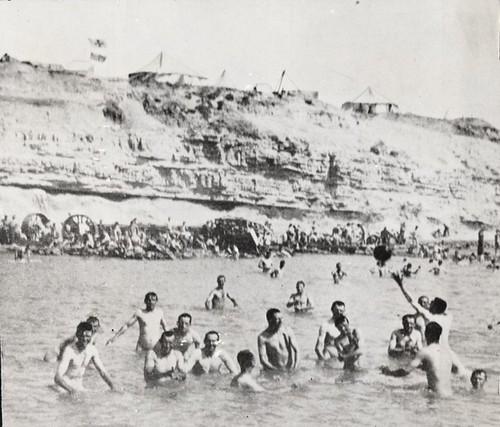 Australian troops bathing at Gallipoli, 1915