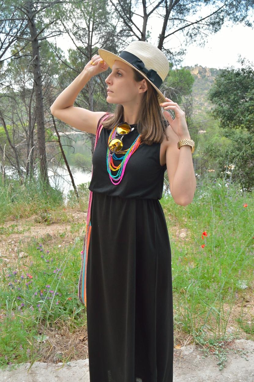 lara-vazquez-madlula-fashion-blog-boho-dress-black