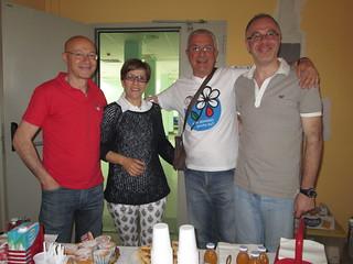 Da sinistra Giuseppe Giuliano, presidente Fidas di Rutigliano, e altri componenti del direttivo