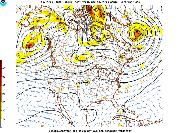 Minor shortwave crosses northern Colorado Sunday through Monday morning
