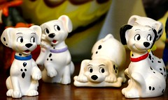 puppy, dog, pet, dalmatian, figurine, toy,
