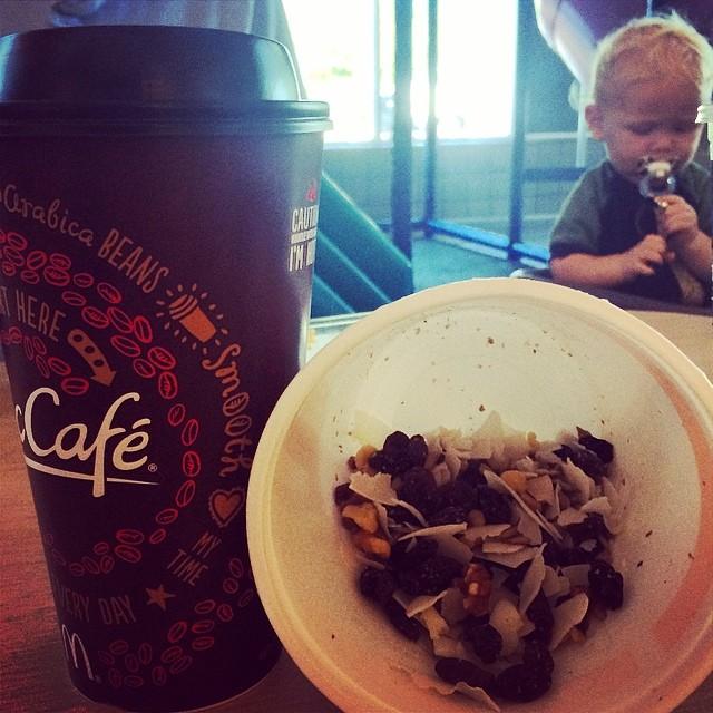 Day 12, #Whole30 - breakfast (black coffee & trail mix)
