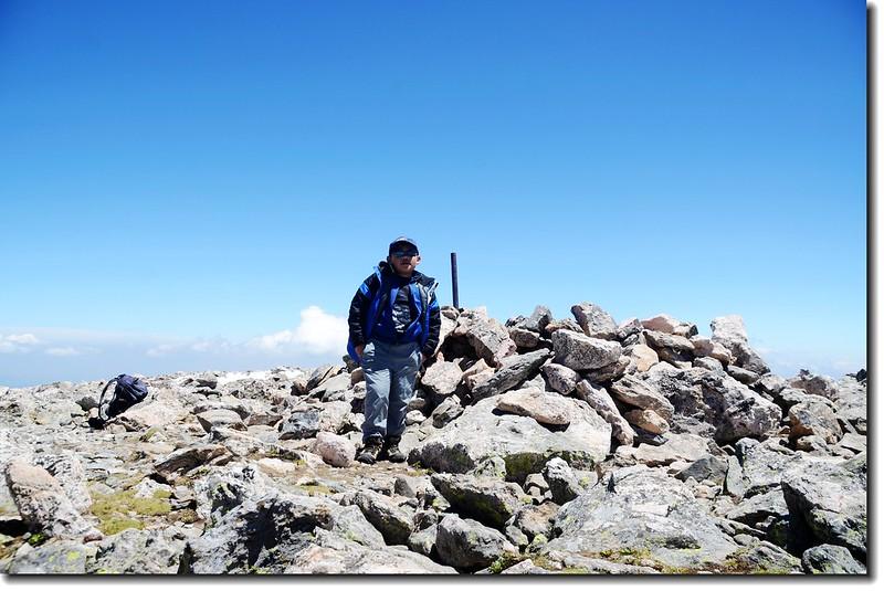 Jacob on James Peak's summit 3