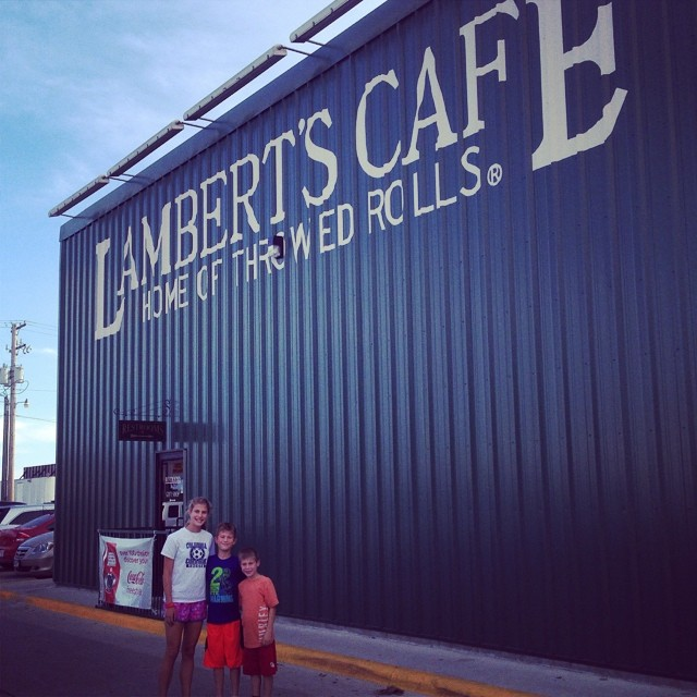 Lambert's cafe. A first for our family.