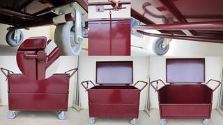 Fully Enclosed Lockable Box Trolley
