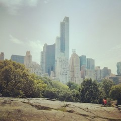 City looming over #centralpark.