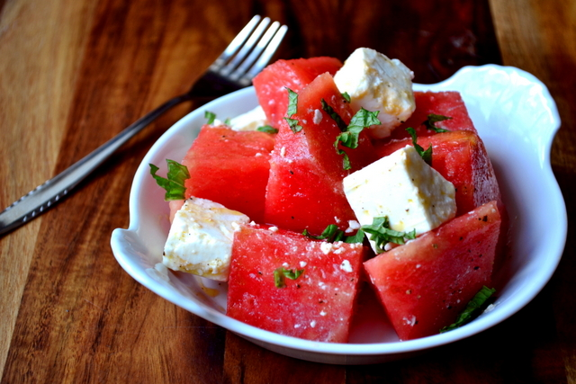 How to Make Watermelon and Feta Salad