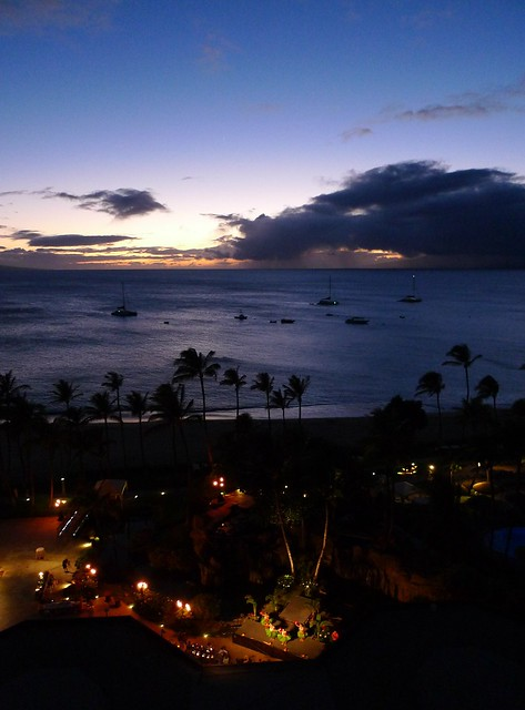 from my balcony on maui