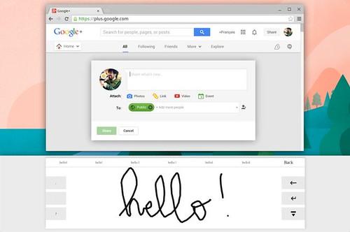 Chrome OS écritture manuelle