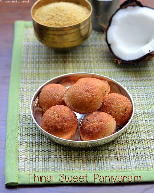 thinai-sweet-paniyaram