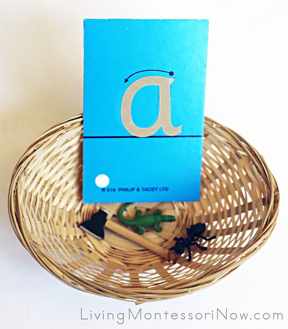 Sandpaper Letter and Object Basket