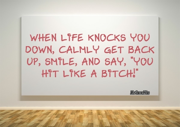 When life knocks you down-quote-BrianMc
