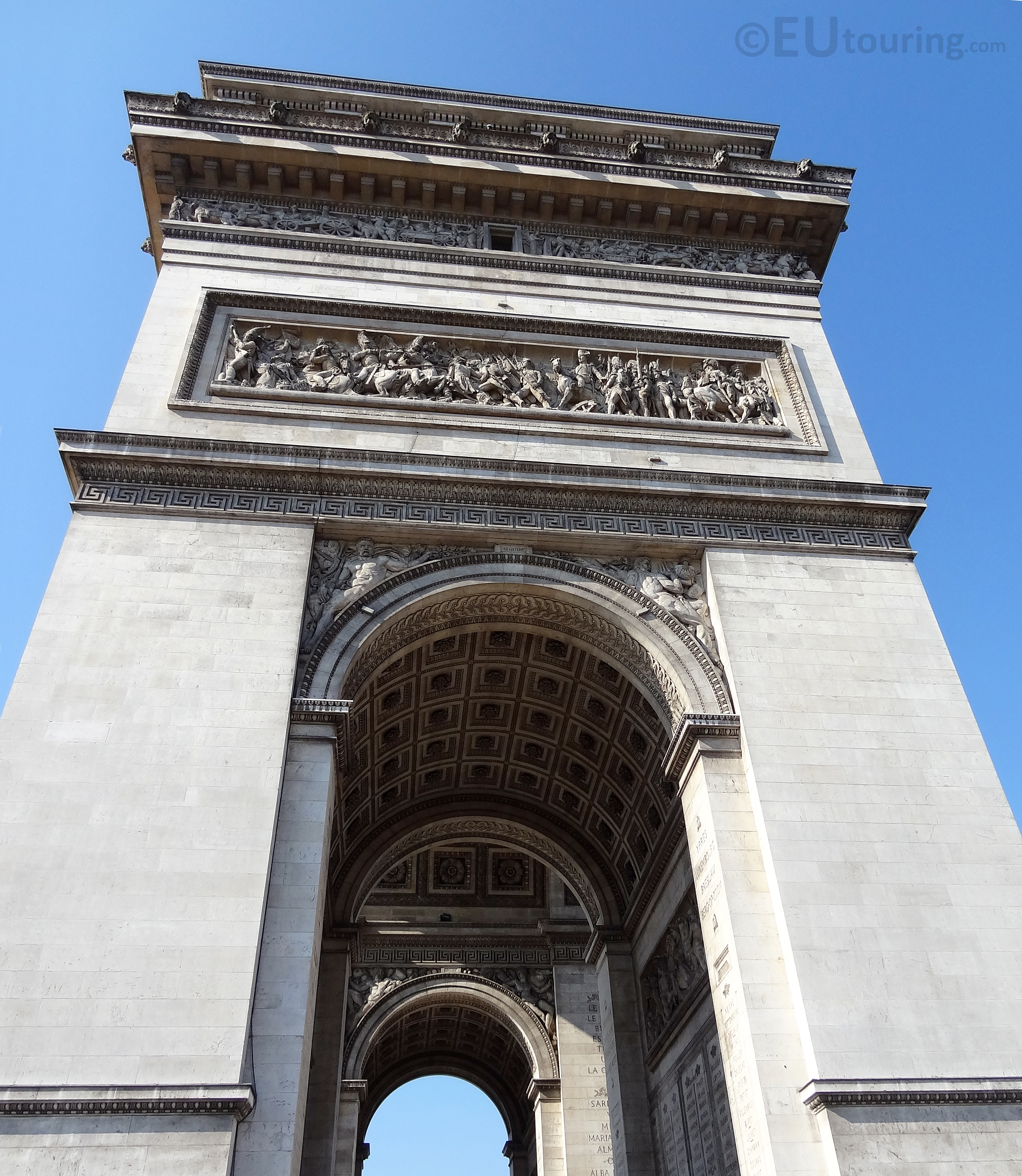 Side and details of the Arc de Triomphe