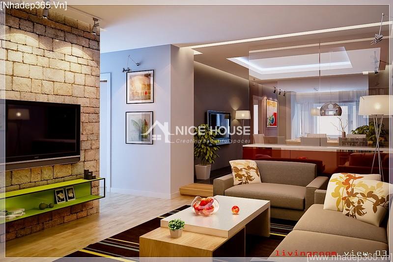 Thiết kế nội thất căn hộ chị Lan - Hà Nội_4