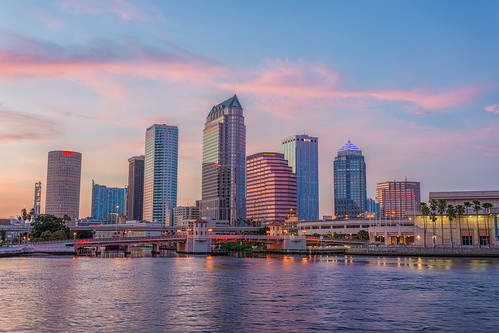 sunset skyline tampa florida beercan processing nik hdr hillsboroughriver tampaconventioncenter photomatix sykesbuilding plattstreetbridge rivergatebuilding