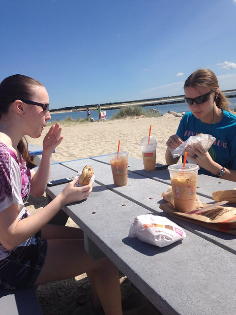 Dunkin at the beach