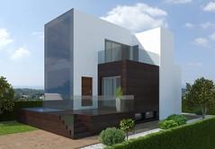 Chalets de estilo moderno con 250 m2 de parcela independientes con vistas al mar. Solicite más información a su inmobiliaria de confianza en Benidorm  www.inmobiliariabenidorm.com