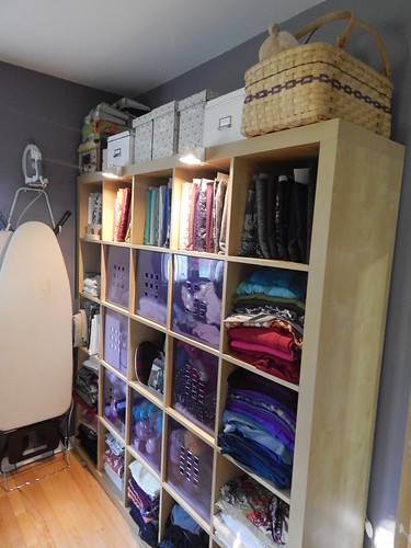 Sewing Room:  5x5 Ikea Expedit storage