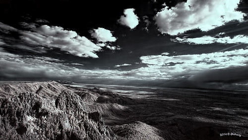 newmexico landscape hill scenic albuquerque bluesky scene hills elevation cloudysky sandiapeak olympusepl3 shedraway