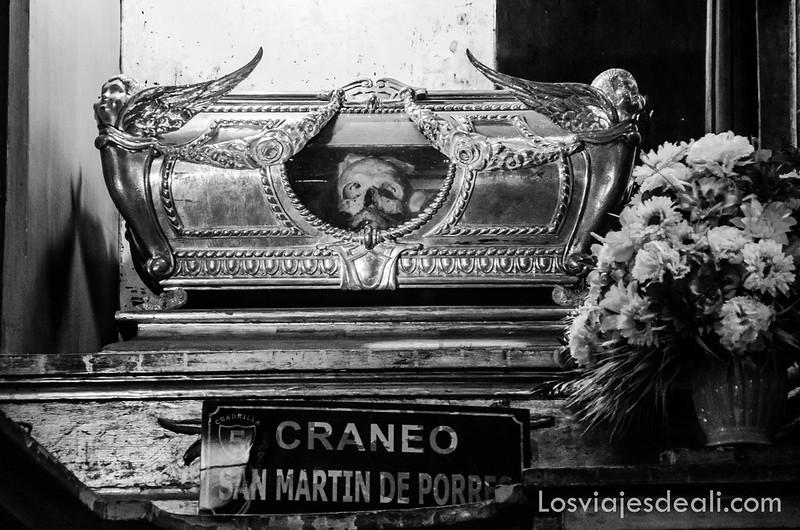 cráneo de San Martin de Porres en Lima