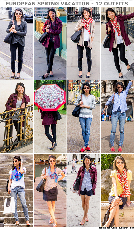 European spring vacation - 12 outfits