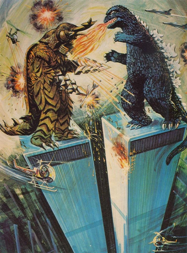 Godzilla pin-up 01