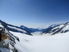 Top of Aletsch Glacier at Jungfrau, Switzerland