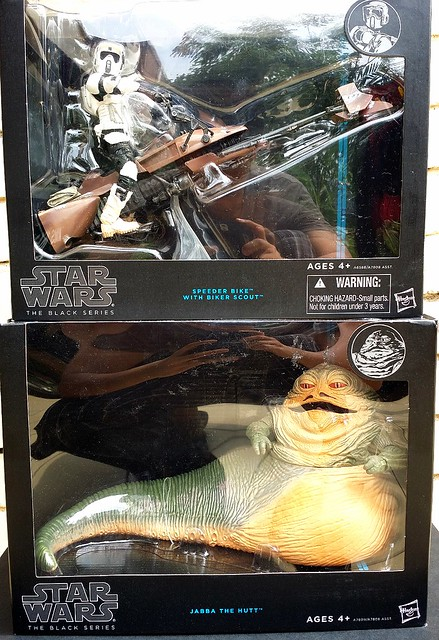 "New Star Wars 6"" Black Series haul - Scout Trooper with Speeder Bike & Jabba the Hutt"