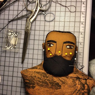 All these pins look so creepy #behindthescenes #beards