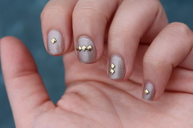Neutral Studs | Manicure | #LivingAfterMidnite