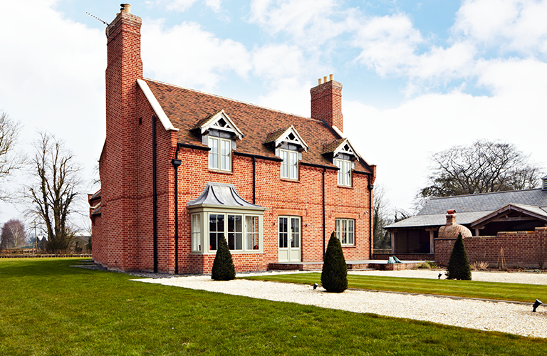 New buildings built in traditional architecture style for 3 storey house plans uk