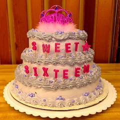 My daughter Jacqueline's Sweet 16 birthday cake! #JacquelinesSweet16