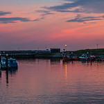 BURRY PORT HARBOUR SUNSET
