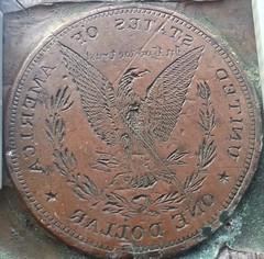 Morgan dollar mold reverse