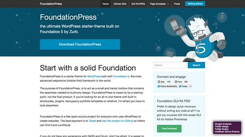 FoundationPress   the ultimate WordPress starter theme built on Foundation 5 by Zurb.