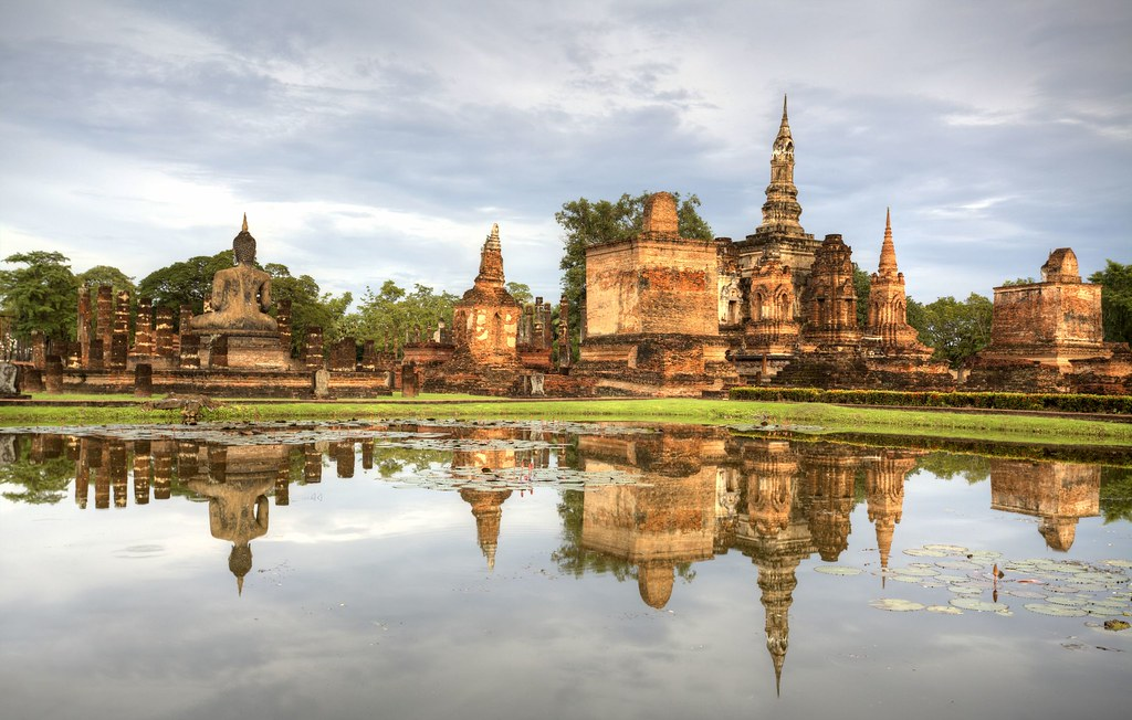 Sukhothai historical temple park in Thailand
