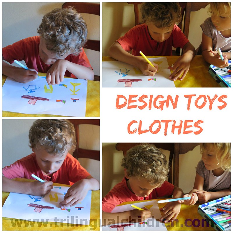 Children design toys clothes