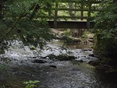 Dovedale - River Dove - footbridge