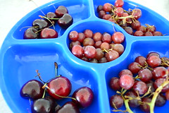 grapes and cherries