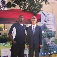AEYL Founder Derrick Robinson w/ McKinney Mayor Brian Loughmiller @ntxgivingday